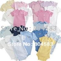 20pcs/lot 100% cotton Baby body suits ,cute summer newborn clothing bodysuit ,short sleeve baby wear wholesale