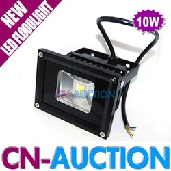 FREE SHIPPING!!! Outdoor Lighting 10W LED Floodlight with Black Housing, Waterproof IP65 LED Spot Light Landscape Lamp (CN-LF34)(China (Mainland))