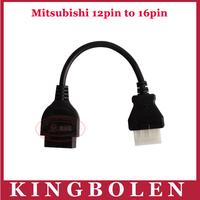 Factory Price MITSUBISHI 12 Pin  to OBD OBD2 OBDII DLC 16 Pin 16Pin Female Car Diagnostic Tool Adapter