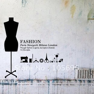 fashion life murals home stickers wall decor murals decals