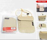 Free Shipping - Travel Gear Hidden Pocket, Money Purse, Neck Stash, Travel Pouch, Passport bag, Security Neck Wallet, Neck Pouch