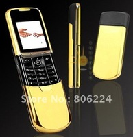 Original 8800 Gold,100% Unlocked 8800 Mobile cell phone 8800 triband bluetooth Java one year warranty FREE SHIPPING