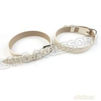 30pcs/lot New Charms White Buckle Bracelets Leather Wristband Fit Belt Charms 23*10*1.5mm 190134