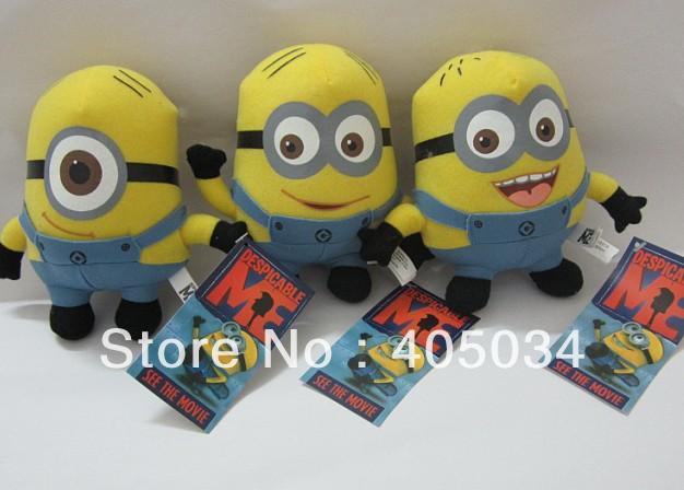 "50pcs/lot Newest Movie toys Despicable Me Minion 6"" Plush Doll toys Jorge Dave Stewart(China (Mainland))"