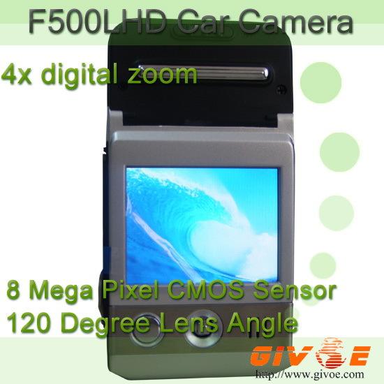 Mini f500 15-inch lcd 170-degree wide angle fhd 1080p h264 car dvr with g-sensor /4x digital zoom /night vision /hdmi