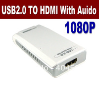 Free Shipping USB 2.0 to HDMI, USB to HDMI & Audio display converter 1080P USB Graphics Adapter