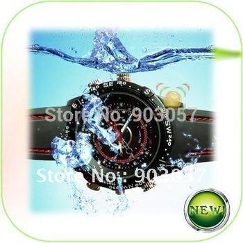 Hot sale  4GB High Definition 1280x960 Fashion Digital Waterproof Watch Camera,Watch Video Recorder,Hidden Camera Free Shipping