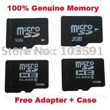 produto 10pcs/lot OEM Micro SD Flash Memory Card 128MB 2GB 4GB 8GB 16GB 32GB + Adapter in PVC box