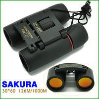 Sakura Mini Fold Binoculars Pocket Telescope 30 x 60 126M/1000M Free shipping HS0019