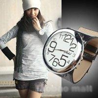 Free Shipping new arrival women's big face watch, fashional quartz watch, high quality ladies watch