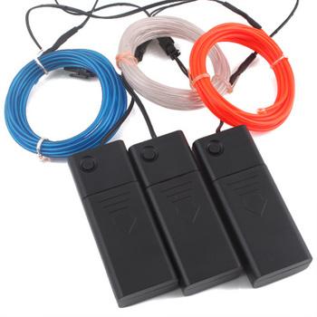 Amazing 3M Flexible Neon Light Glow EL Wire Strip Battery Case # 4626