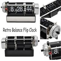 Antique Style Digital Dynamic Table Alarm Flip Clock Gift Desk table Clocks Black