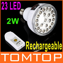 23 LED Rechargeable 2W Emergency Light Lamp with Remote Control Led lighting free shipping(China (Mainland))