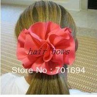 """new style girls hair bows grosgrain ribbon bows 3"""" ribbon hair flowers  hair accessories hair clips 100pcs/lot"""