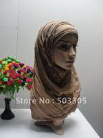 MS12030810 free shipping 2012 latest style hot sale high quality 2-pcs set crepe higabs,muslim scarf,islamic scarf,muslim hijab