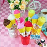 Free ship!30pc!Christmas Valentine wedding supplies / cotton cake towel gift / small monochrome ice cream cones