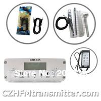 FMUSER CZE-15A15W FM stereo PLL broadcast transmitter radio 87.5-108mhz  GP Antenna kit