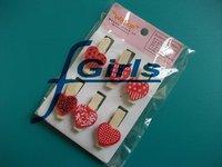 6pcs/set Red Heart shape Wooden Clothes Socks Memo Photo PostCard Clip, 50sets/lot,free shipping