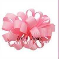 "new style girls hair bows grosgrain ribbon bows 3.5"" bubble bows  hair accessories hair clips 100pcs/lot"