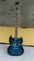 Brand new SG Carved Top Ocean Blue Burst electric guitar free shipping