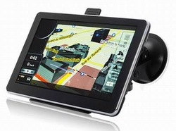 7 inch GPS with 4GB memory and free map car gps navigation with the newest worlwide free maps(China (Mainland))