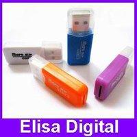 Free shipping USB 2.0 micro sd card reader memory card reader flash card reader,RY018