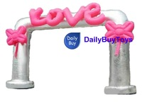 DHL free shipping 8mL*5mH 26ftL 16.5ftH Advertising inflatable wedding arch/archway Free logo Wholesale/Retail price