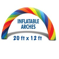 AR01  DHL FREE & 20ft*12ft D=6M  inflatable Rainbow arch High quality Ppromotion  100% positive feedback with blower
