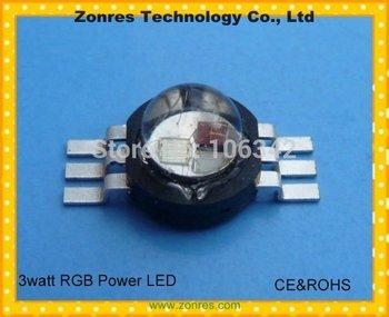 Hot sale!! 3watt RGB High Power LED Lamp Epistar Chip  with CE&ROCHS 10pcs/lot