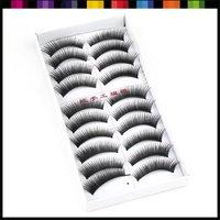 Free shipping wholesale price 10 Boxes 100 Pairs Long Black Hand made False Eyelashes, Fake Eyelash#1715