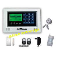 90 zone LCD display gsm wireless security system with power off alarming
