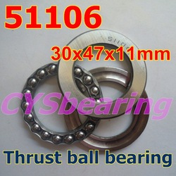 30X47X11 mm single direction 51106 thrust ball bearing wholesale and retail(China (Mainland))