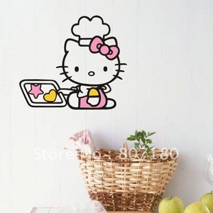 [Goodlife]Wholesale Retail Home Garden Home Decoration Vinyl Removeable Art Mural 57cm*65cm Kitchen Assistant Wall Sticker,K-02(China (Mainland))