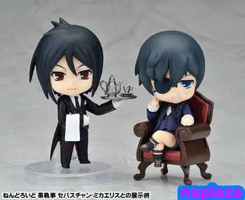 Anime Black Butler  Kuroshitsuji Nendoroid  Evil Noble Ciel Phantomhive, Sebastian PVC Figure  free shipping( 2pcs/lot )  )