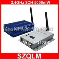 2.4GHz 5000mW long range wireless AV transmitter and receiver Free Shipping