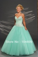 New Fashion light blue stunning Custom-made /Evening Dress custom size