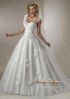New Wedding Dress Sexy Halter White Tulle One-Shoulder Strap Brilliant Wedding Dress