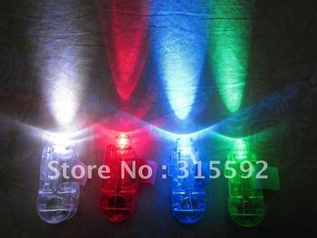 Free Shipping 50pcs/lot (12.5sets)4.5*1.5*1.5cmlaser finger beams flashing finger lights led finger lamp for Christmas
