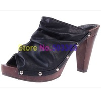 free shipping lady High-heeled shoes women sandals shoes black new arrival Fish head sandals
