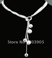 925  Silver Jewelry Multi Balls Necklace