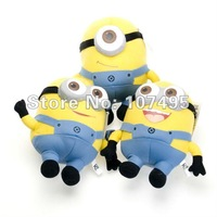 Wholesale 9&#39;&#39; 3D Eye Despicable Me Plush Doll Toy 100pcs/lot Hot sale toys Ems Free shipping