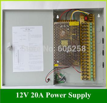 18CH 12V 20A CCTV Box  240W Monitor Transformer , Switch Power Supply