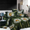 LUXURY DANDELION BEDDING DANDELION DUVERT COVER SHEET/ QUEEN BED SHEET COVERLET BEDSPREAD FREE SHIP