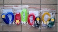 Free shipping ** 200pcs/lot** Dog Pet Click Clicker Training Trainer Aid Wrist Strap Obedience/Agility with poly bag packing