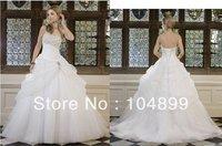 2013 Ronald Joyce Free shipping fashion Style Sleeveless A-line Strapless Taffeta gown Floor-Length Wedding Dresses