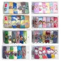 2014Wholesale(6packs/lot) Children/kids/baby boys/girls 6pcs pack Elsa Anna/Minion Underwear/brief/panties 7sizes(2 to 14 years)