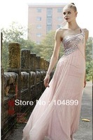 2013 ONE-SHOULDER  new design fashion elegant evening dress custom size 2.4.6.8.10.12.14.16.18.20