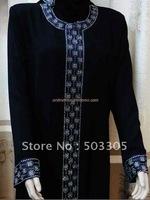 MS11061501 free shipping lastest style high quality dubai abaya ,salat clothing with diamond embroidery