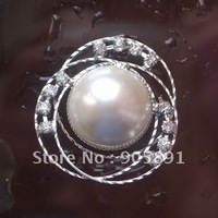 hot sell,promotion,big pearl button,rhinestone button,three-ring,free shipping(1000pcs stock)