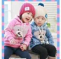 103# Bear Head Bowtie Sweater children Sweater/Kids Clothes/Kids Sweater/Babywear